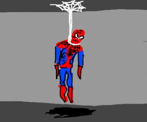 Spiderman commits suicide