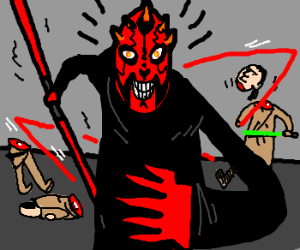 Phantom Menace alt. end: Darth Maul wins