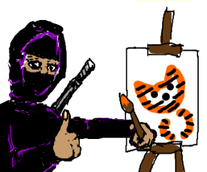 "Ninja artist says tiger painting ""Good Enough"""