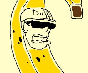Duffman dressed as a banana