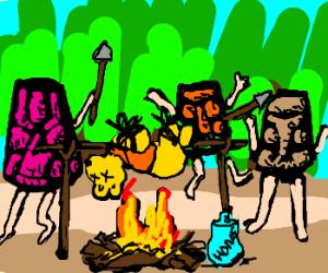 natives kill pooh