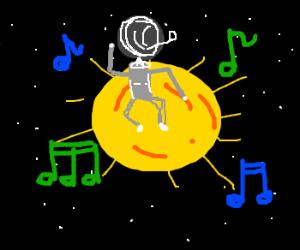Spaceball radar tech dancing in the sun