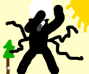 SLENDERMAN RUNNING FROM THE SUN