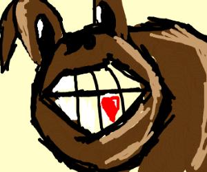 Donkey teeth loves who?