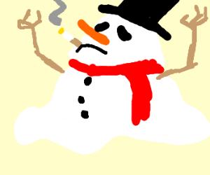 Smoking causes a meltdown.