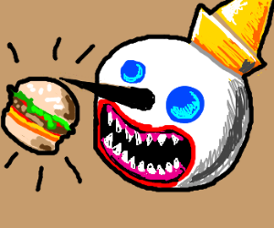 Jack eats a Jack in the Box burger