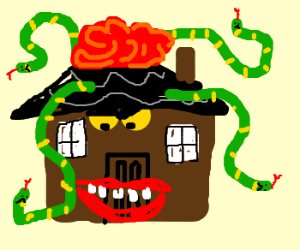 MonsterHouse with red James Holmes afro