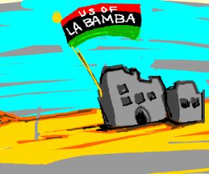 "Libian flag now says ""U.S. of la Bamba"""