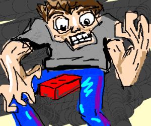 Brick between legs drives man to despair
