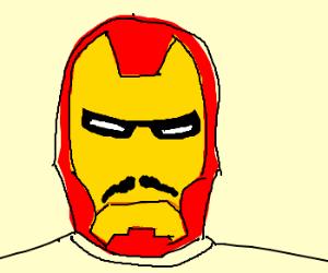 IRONMAN tries a mustache
