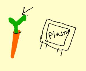 Carrot top watching plasma onTV