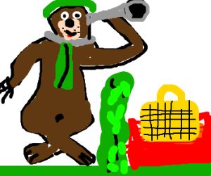 Yogi spies a pic-a-nic basket....