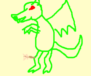 Green Dragon takes an arrow to the knee.