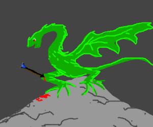 Skyrim Green dragon took an arrow in the knee