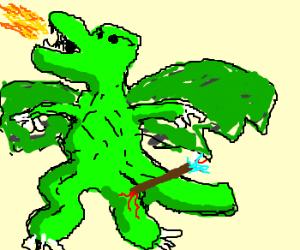 Dragon took an ARROW TO THE KNEE