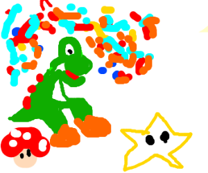 Yoshi on acid