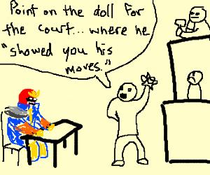 captin falcon in court