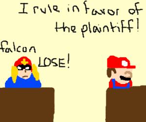 Captain Falcon gets sued