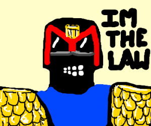 Judge Dredd claims to be the law