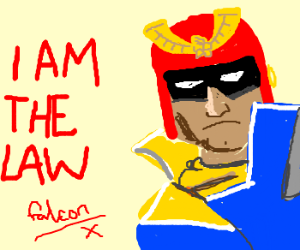 Captain Falcon is the law