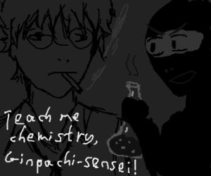 Anime: Ninja & Sensei-san in chemistry class