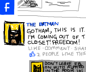 Alfred Trulz Batman on Facebook