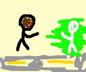 blackman vs whiteman doing street fighting