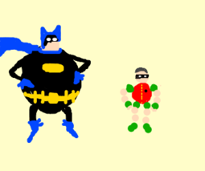 Fatman and boy blober