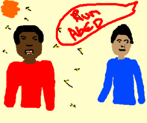 Run Abed, Troy let the bees escape...cool cool
