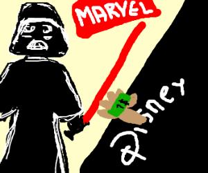 Darth Vader selling marvel to Disney