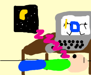 must leave drawception and sleep