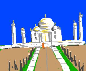 Shaolin Monk at Taj Mahal