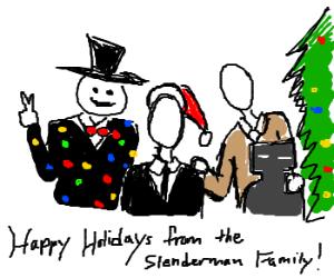 The Slenderman Family Christmas photo..d'awww!
