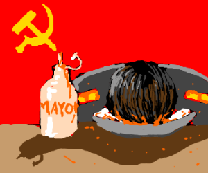 Stalin binges on mayo while depressed