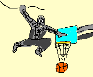 Grey Spiderman is Basketball Champion