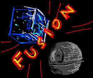 borg cube assimilates death star