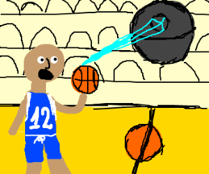 Basketball player versus Death Star