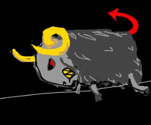 Lamb of God? bah! Here's the Ram of Satan!