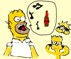 Homer sings for Duff, Bart & Lisa dislike.