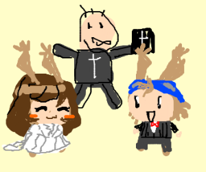 the wedding of Jowee and Mari (Drawn to Life)