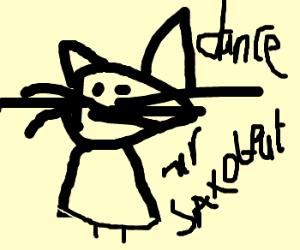 Cat at disco dancing Mr. Saxobeat.