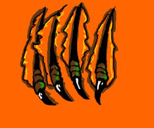 badass claws ripping thru panel