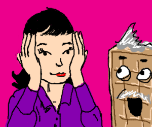 Asian lady plays Peekaboo with Old Man Waffle.
