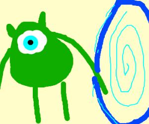 Mike Wazowski finds a portal