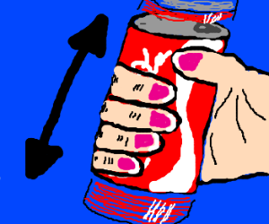 How to prank with a can of soda