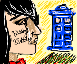 Female Dr. Who travelling through time