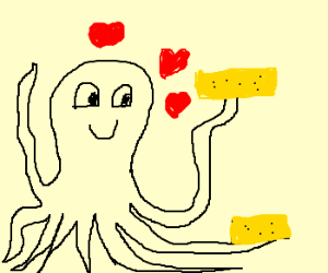 Overly Attached Octapus (to biscuits)
