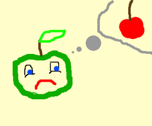 Apple is upset at the thought of cherry