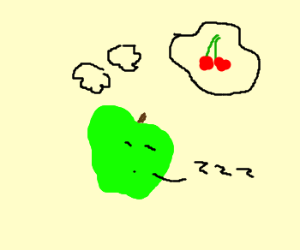 Green apple dreams of cherry twins