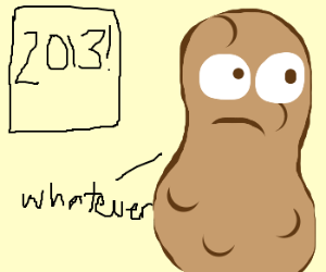 Potato not impressed with new year